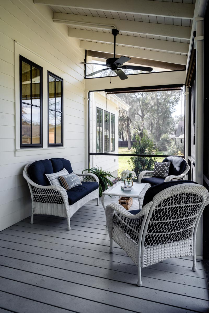 back porch of longleaf house in st johns county Florida