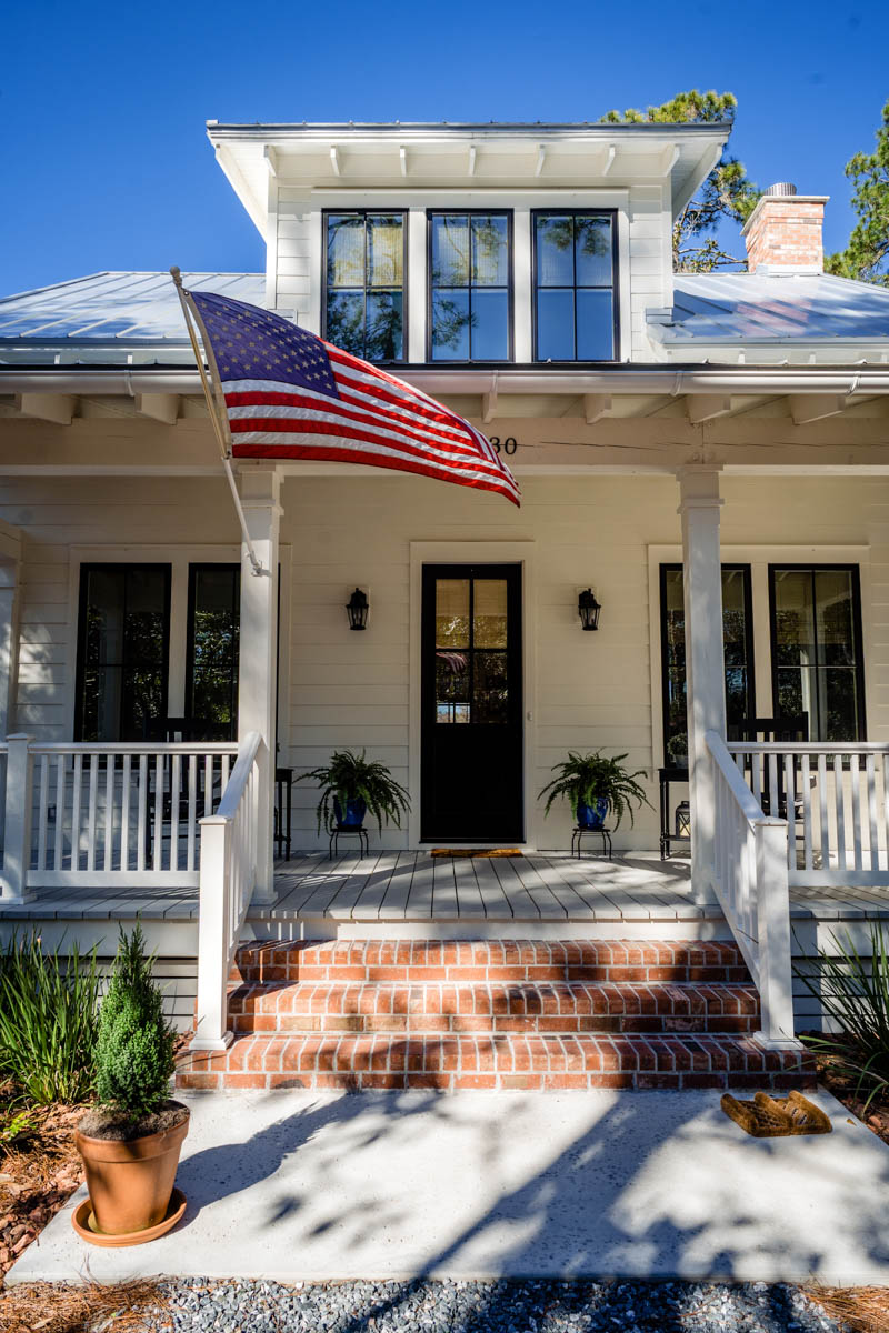 the porch of longleaf house in st johns county