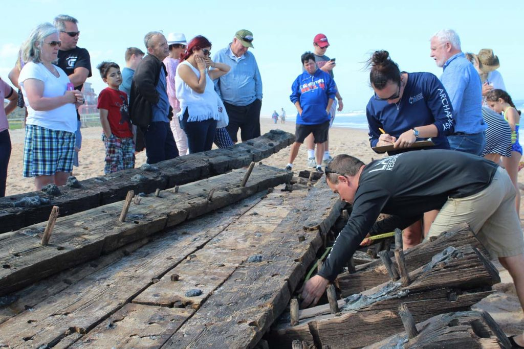 a team works to preserve a shipwreck in st augustine florida