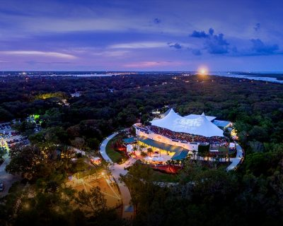 aerial shot of the amp in st augustine