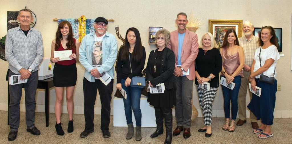 winners at the st augustine art association cutting edge exhibition