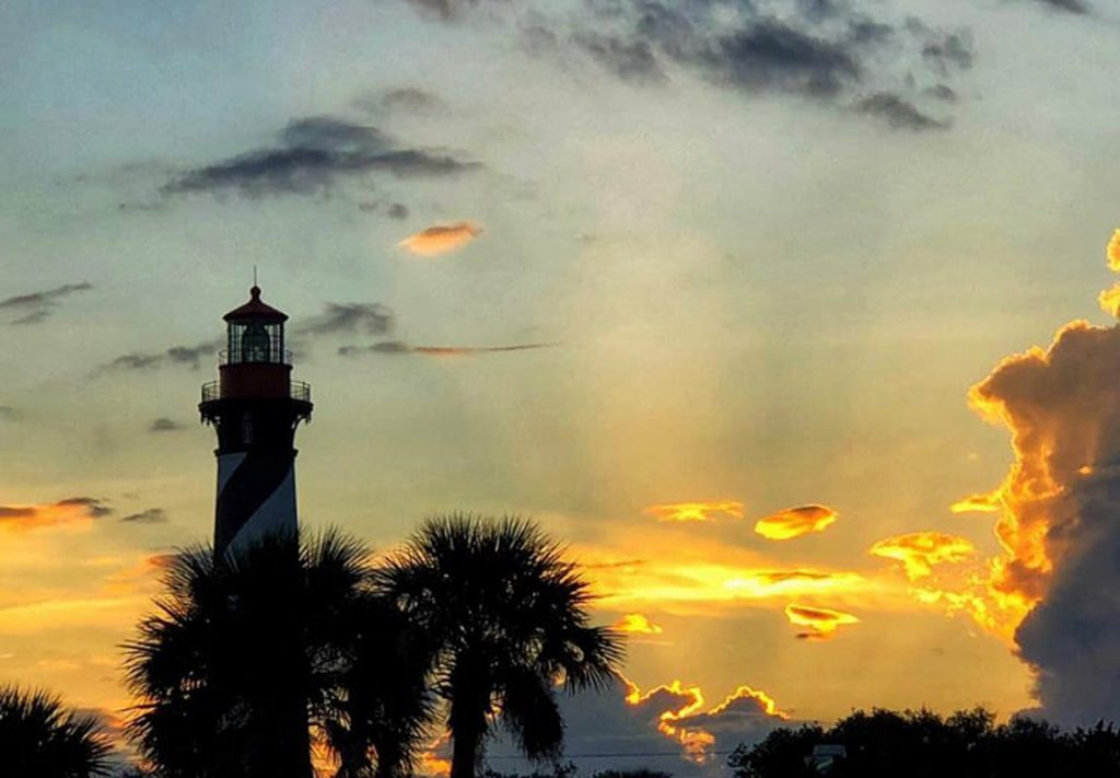 sunset at the st augustine lighthouse