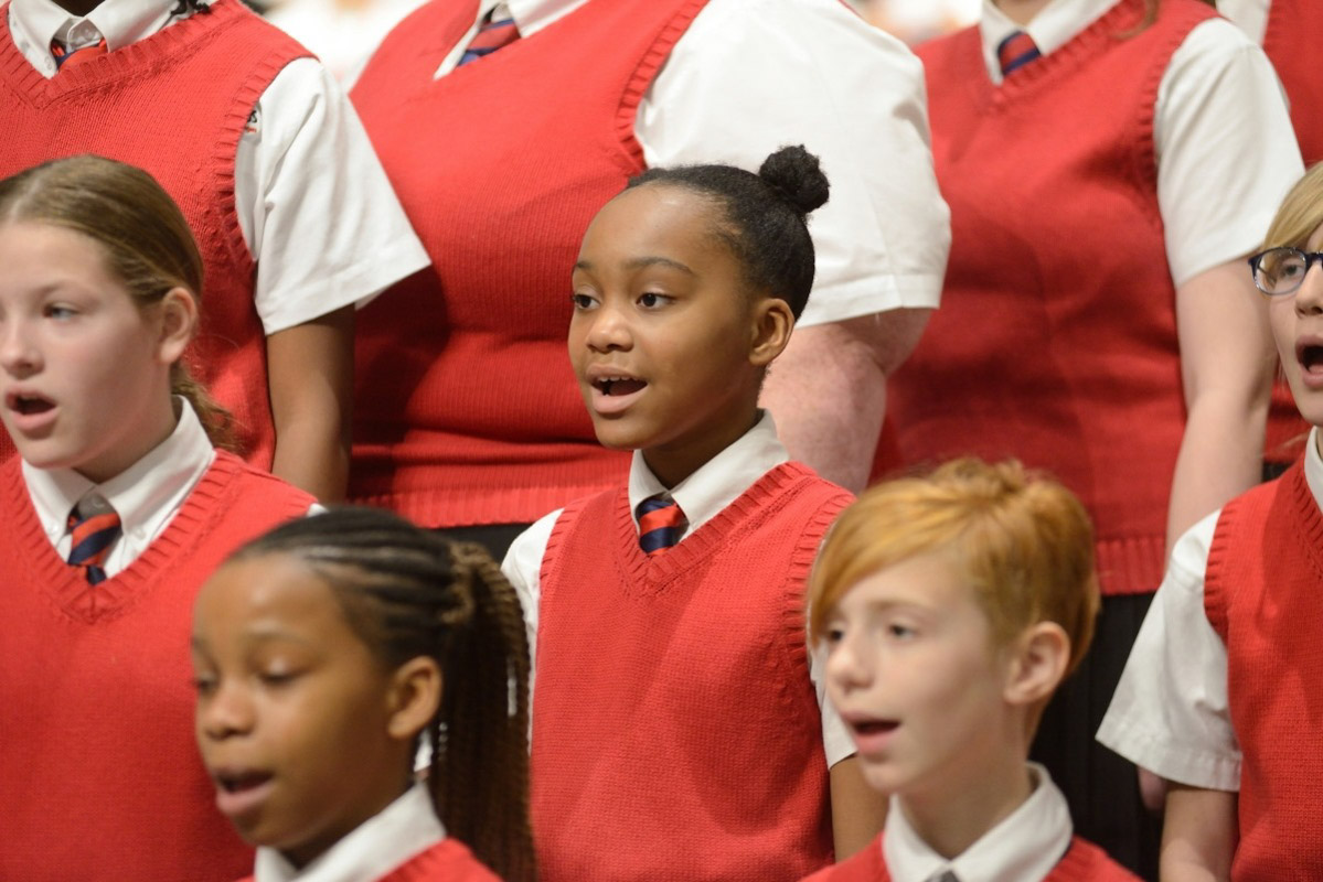 a singer in the jacksonville children's chorus