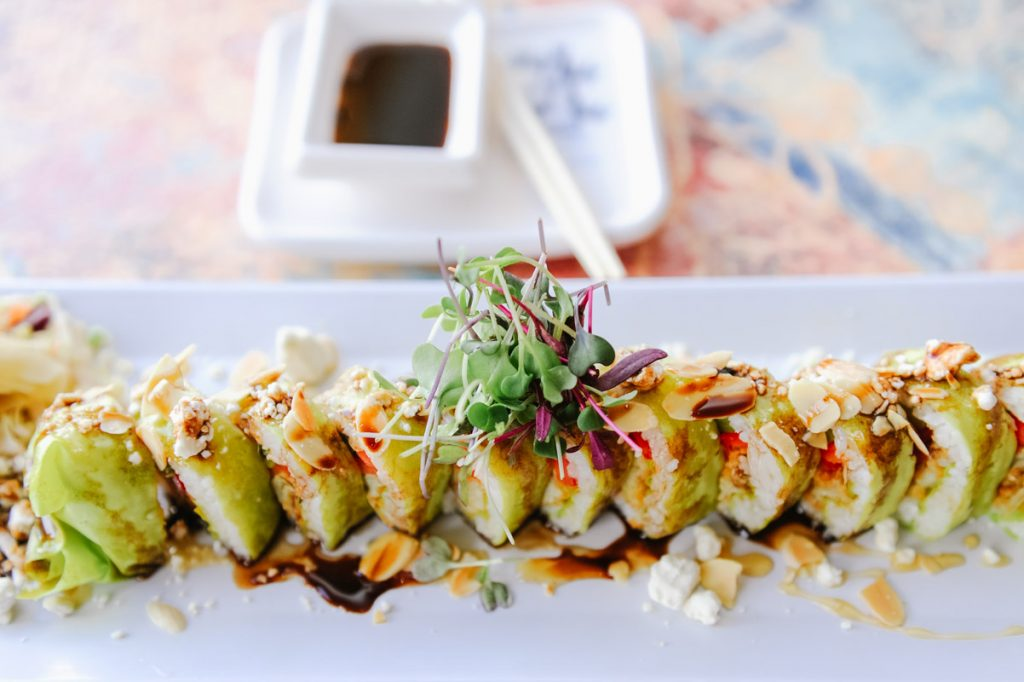 the treehugger sushi roll at kingfish grill