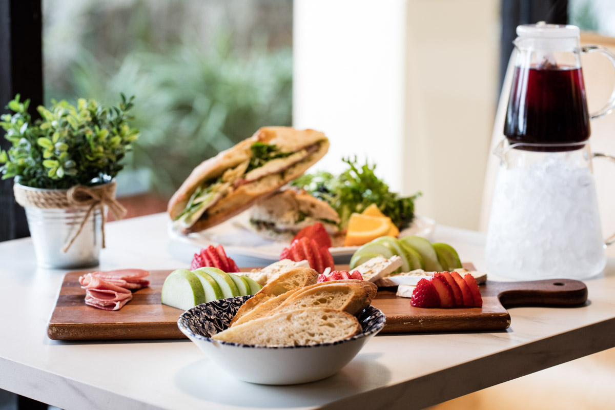 cheese board and sandwich at le petit paris in jacksonville