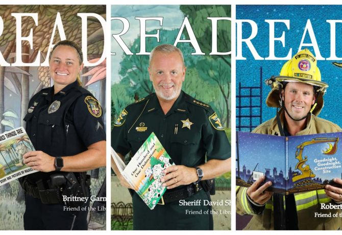 collage of read posters from st johns county library