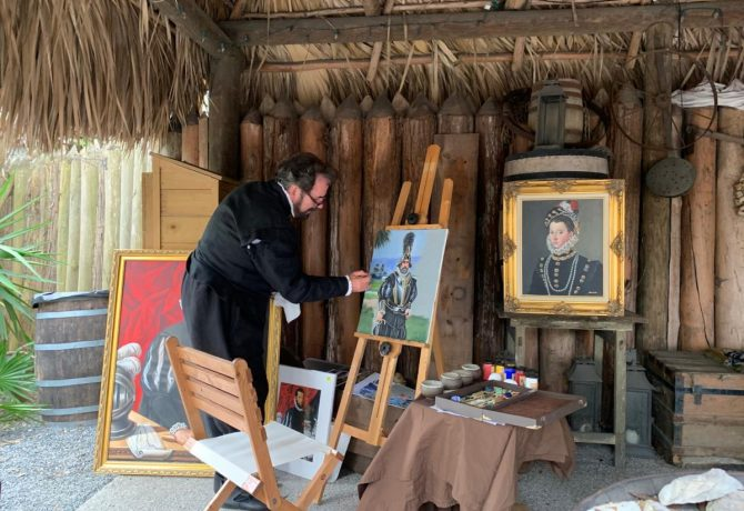 a painter at the school of the 16th century in st augustine