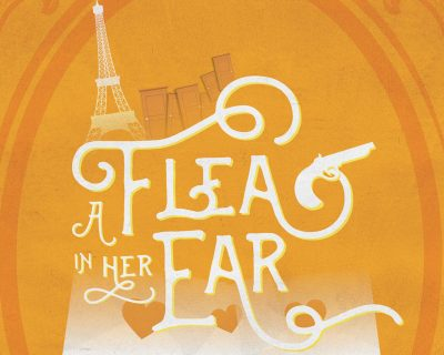 poster for limelight theatre's production of a flea in her ear