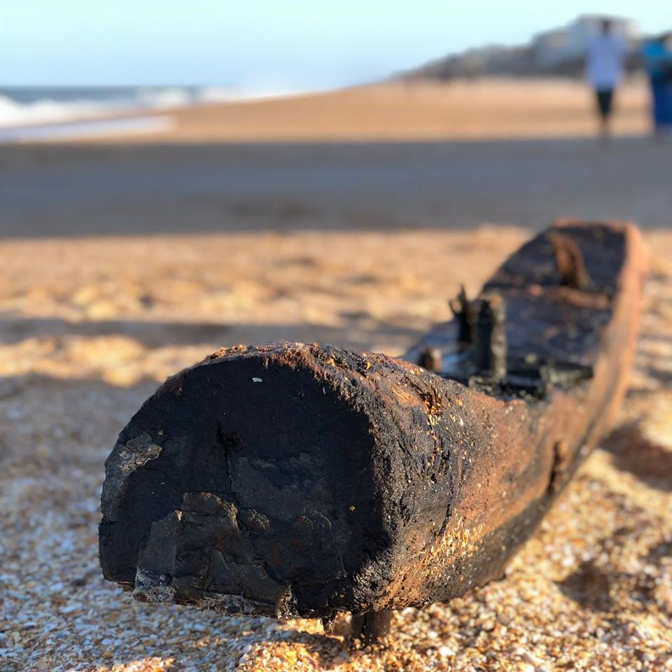 the spring break shipwreck on the beach in ponte vedra beach