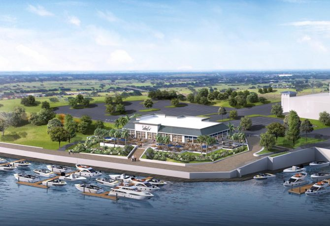a rendering of the new culinary outfitters waterfront location