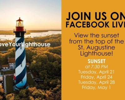 st augustine lighthouse sunsets on facebook live graphic