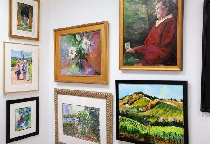 art on display at the cultural center at ponte vedra beach