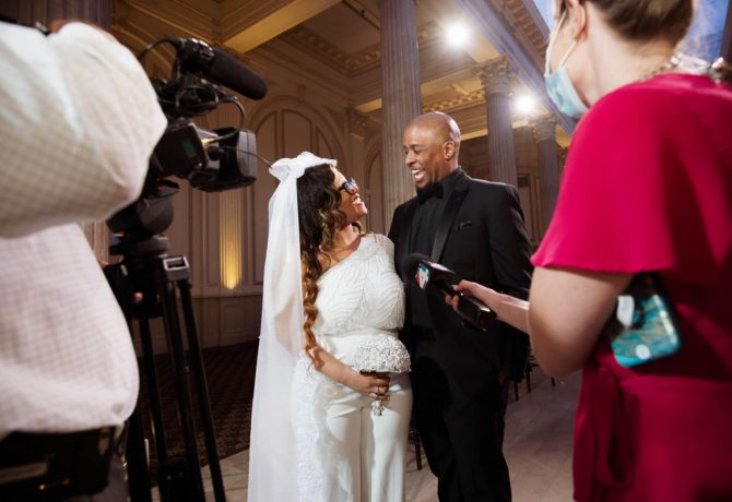 deshazo and jacarra wilkinson host social distancing wedding in st augustine florida