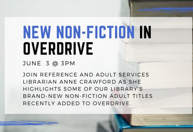 new non fiction in overdrive graphic for st johns county library