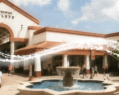 the exterior of the st Augustine outlets