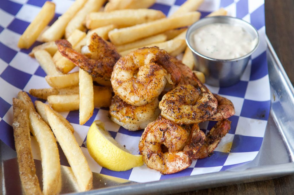 grilled shrimp at st augustine seafood company