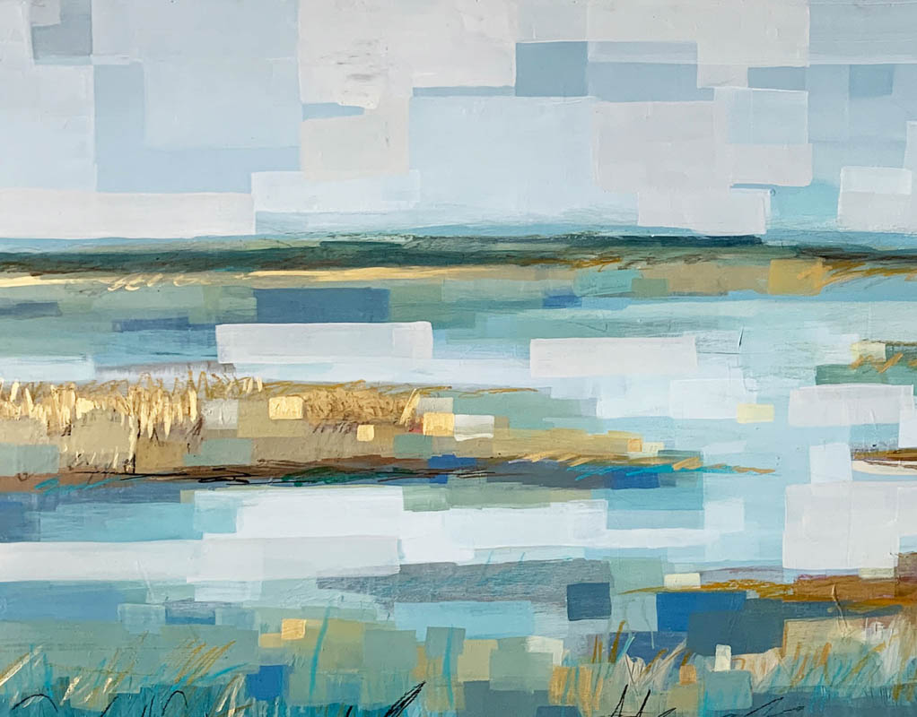 Marsh In Blue _ acrylic on panel Sold