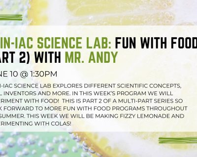 graphic for main-iac science lab food st johns county public library