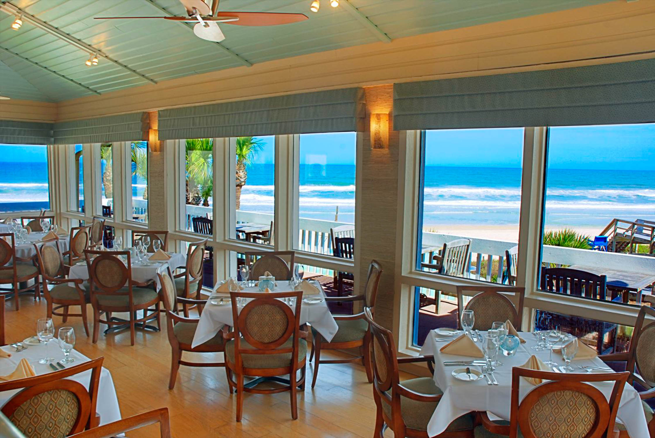 interior of the reef oceanfront restaurant in st augustine