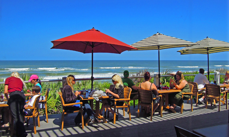 the ocean view at the reef waterfront restaurant in st augustine florida
