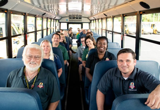 st johns county bus drivers in a school bus