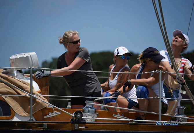 st augustine sailing sisters at the annual bikini race