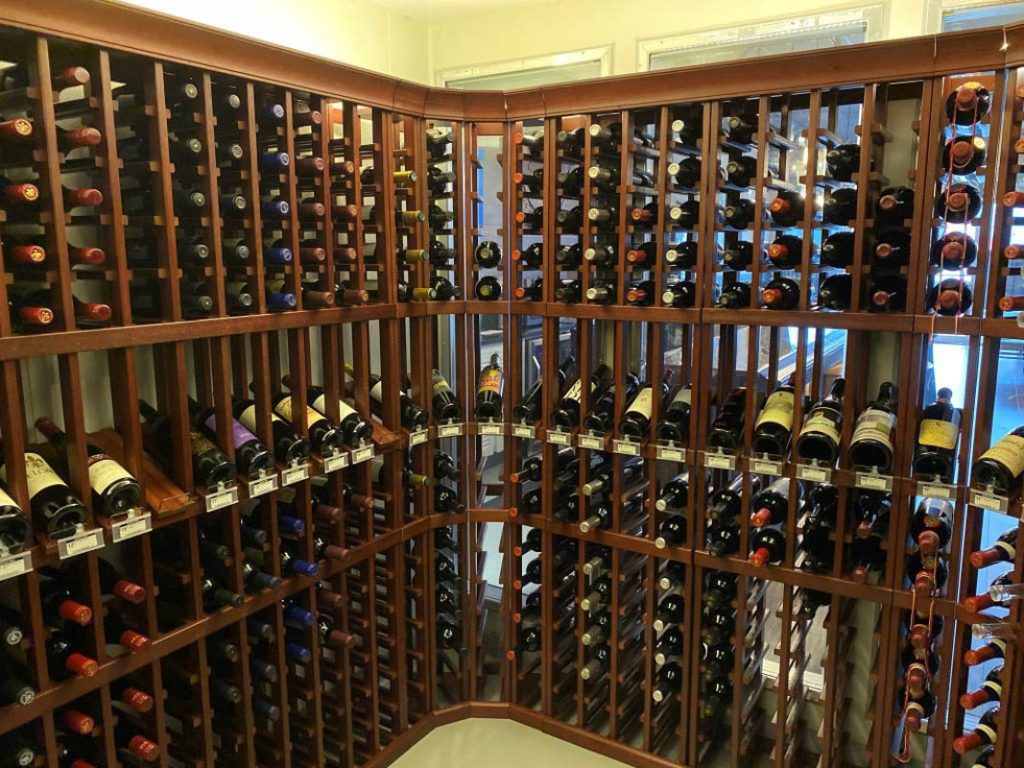 the wine room at Southern Vibes Tasting Room and Wine Cellar in st augustine florida