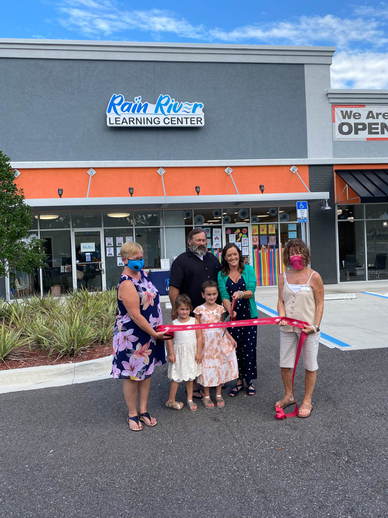ribbon cutting ceremony at rain river learning center in st augustine florida