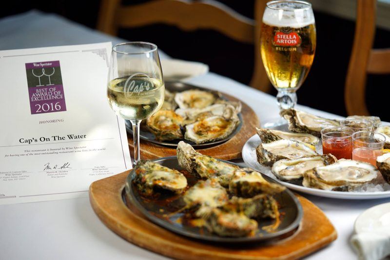 Three Oyster Dishes from Cap's On The Water in St. Augustine