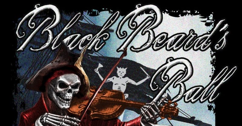 A banner hangs at the Black Beard's Annual Ball in St. Augustine.