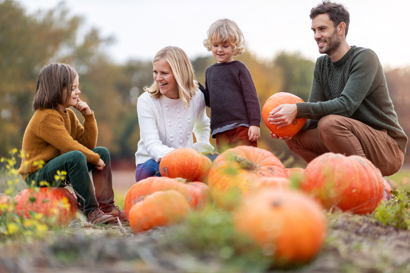 Family enjoys pumpkin patch at Fall Festival in St. Augustine