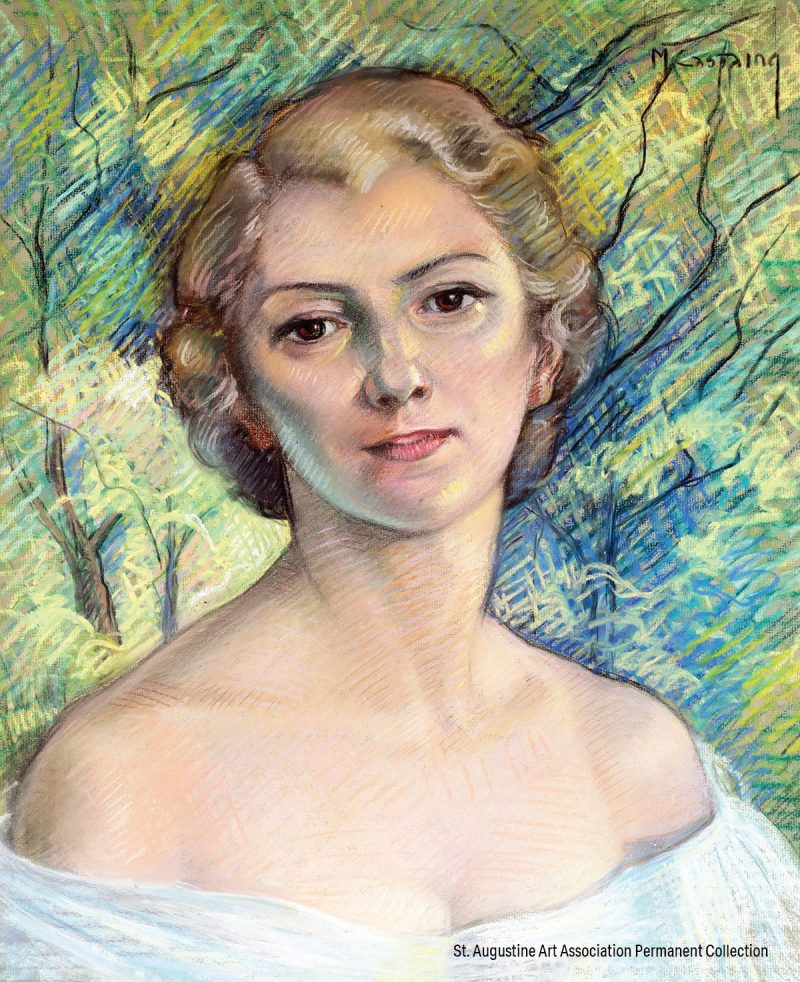 Self Portrait of Marguerite Castaing from the St. Augustine Art Association Permanent Collection