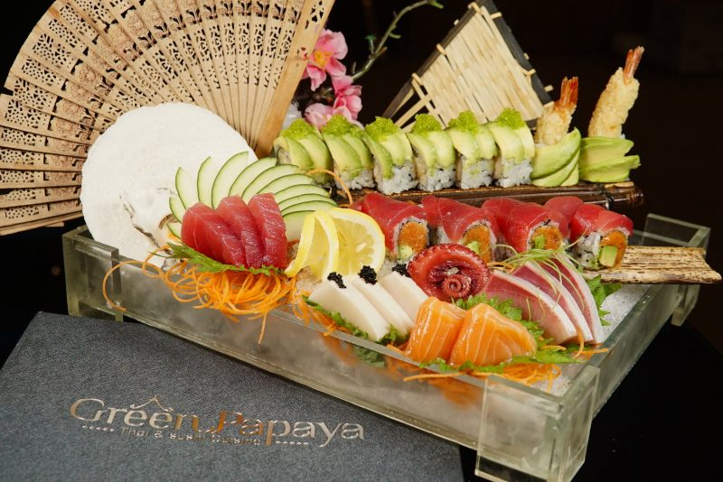 Sushi Spread from Green Papaya Thai and Sushi Cuisine in St. Augustine