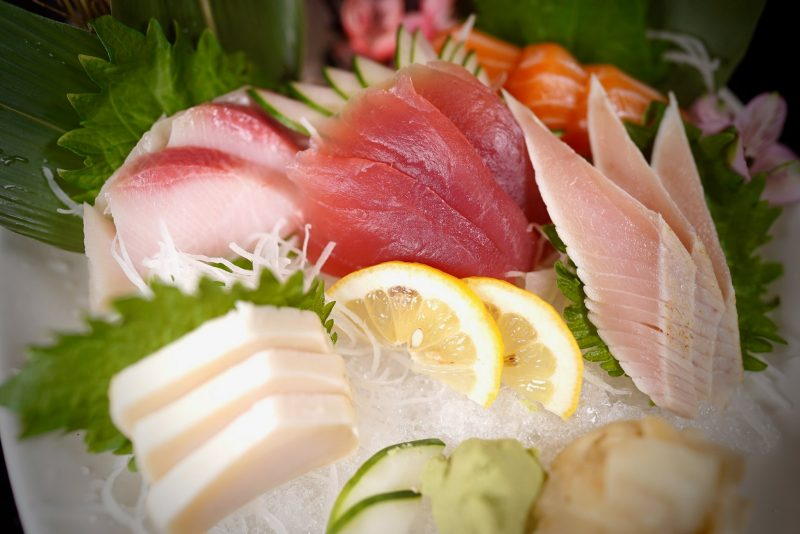 Sushi and Sashimi plate from Ginger Bistro in St. Augustine