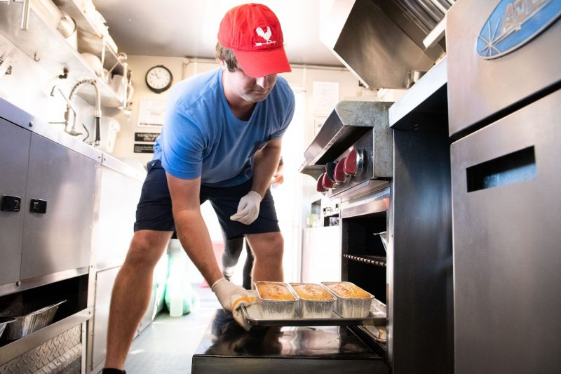 Spencer Upchurch of Fried Chicken Kitchen Food Truck in St. Augustine makes Housemade Cornbread
