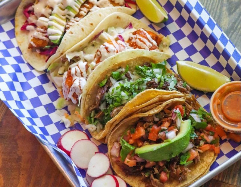 Taco selection at Taco Libre in St. Augustine