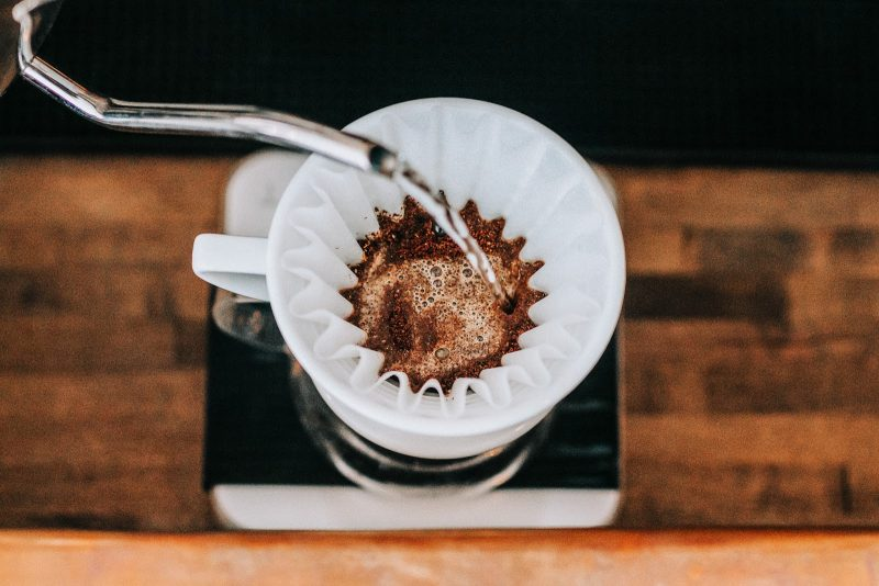 City Perks Coffee Co in St. Augustine making coffee