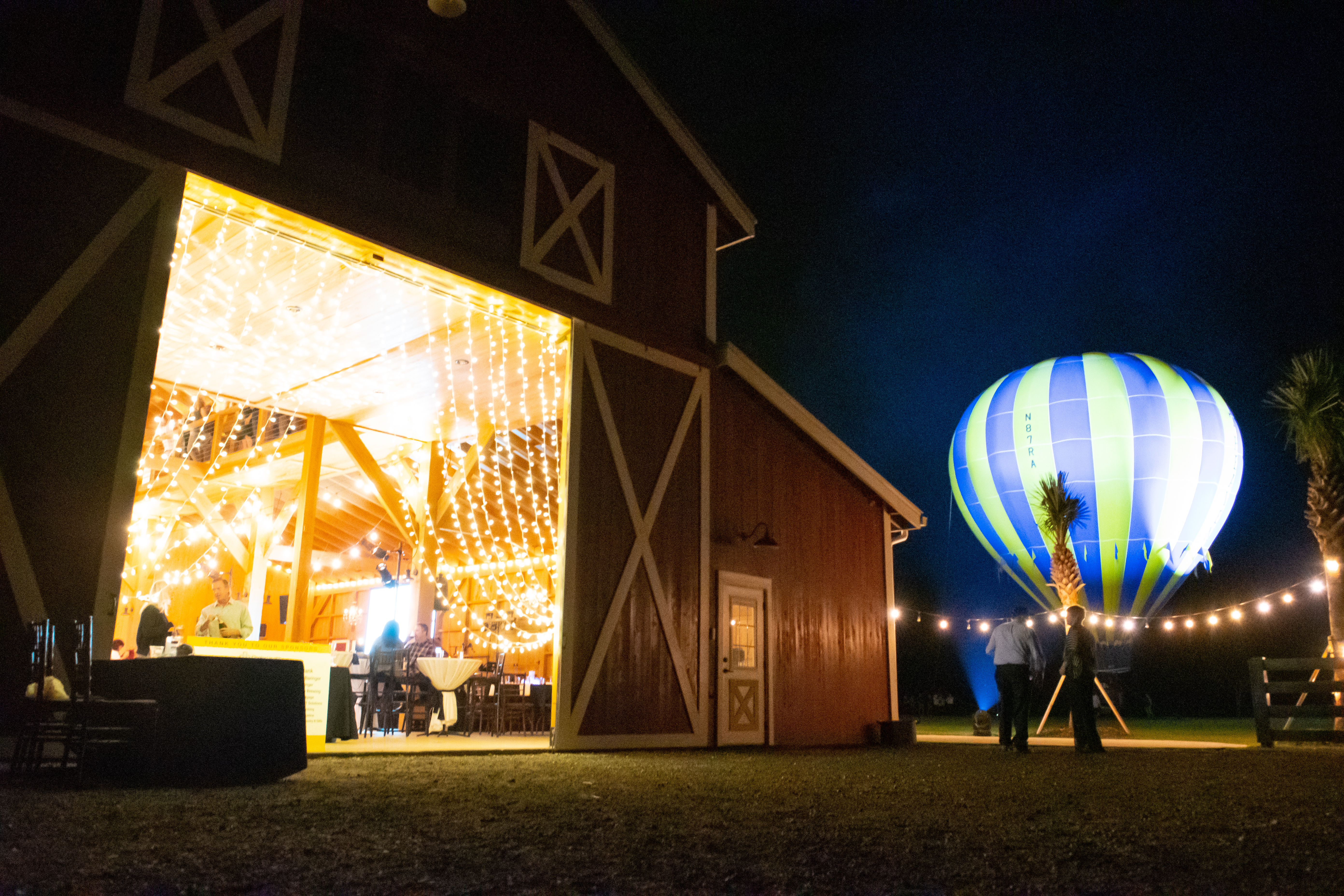 Balloon Night at St. Francis Shelter Port in the Storm Light Up The Night Event