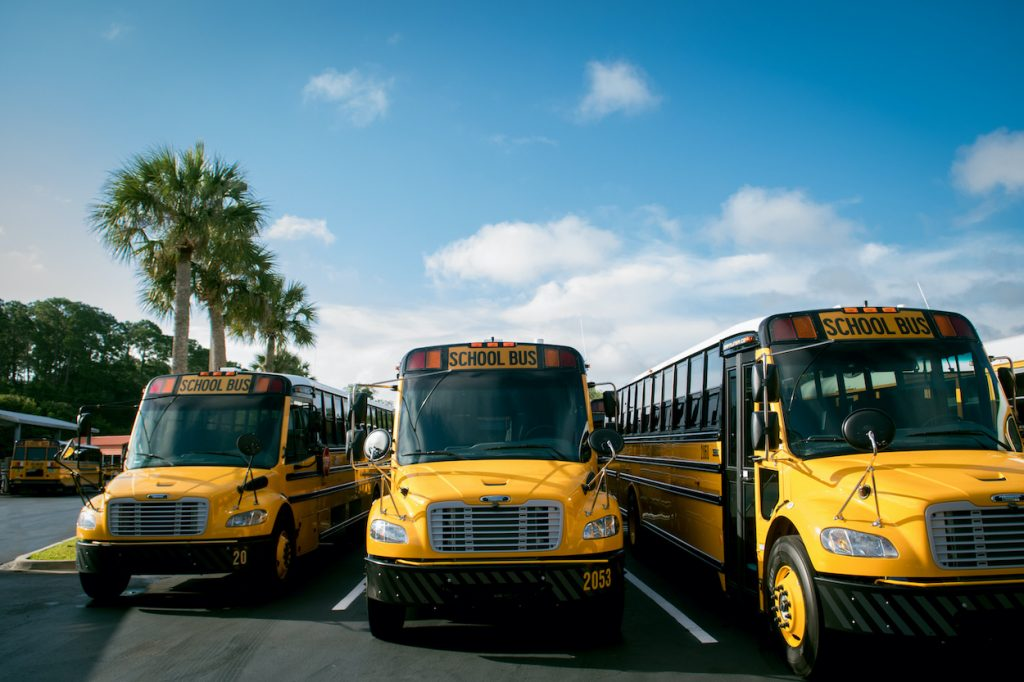 Buses Line up in St. Johns County