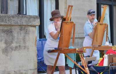Artists participating in Art Plein Air Paint Out